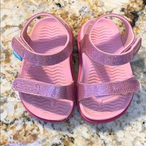 Native Charlie Pink Glitter Sandles